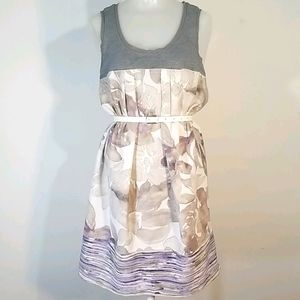 Cute casual belted dress, pockets Large